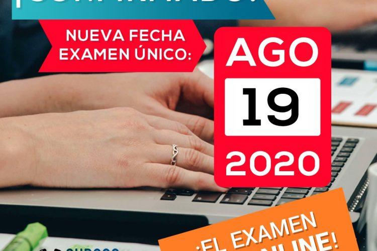 Se confirma el Examen 2020 online, el 19 de agosto